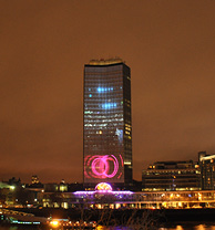Millbank Tower Lightshow London
